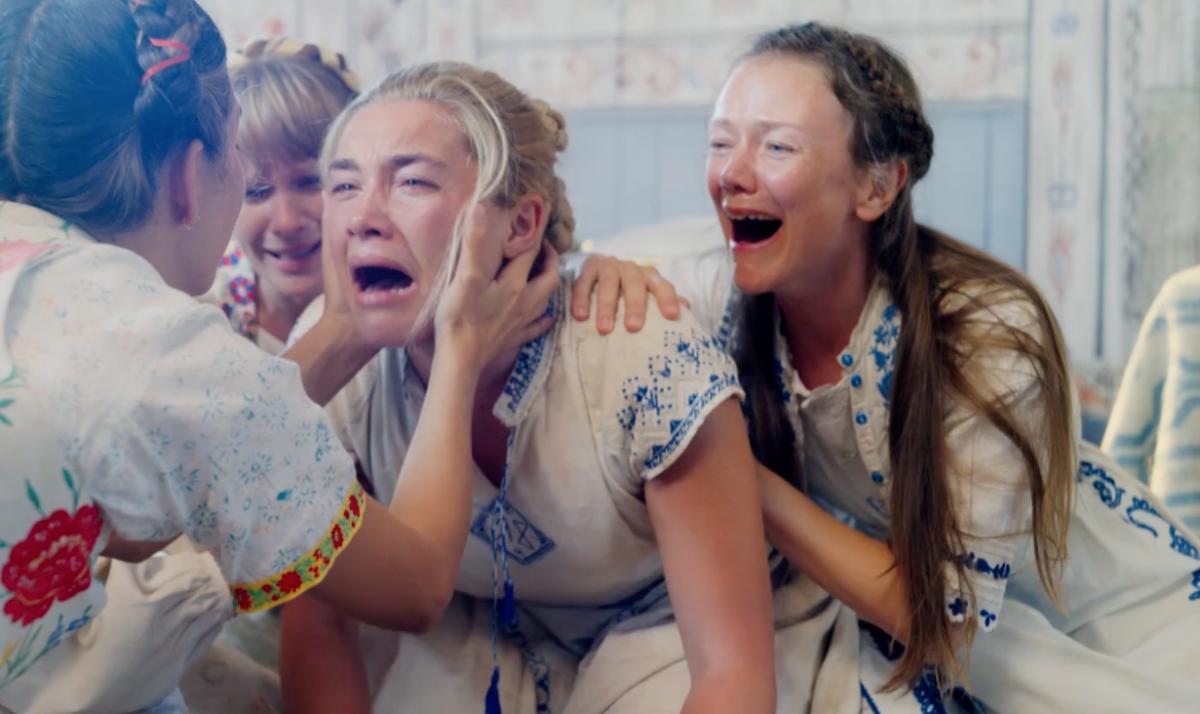 泣き叫ぶ女性の絵