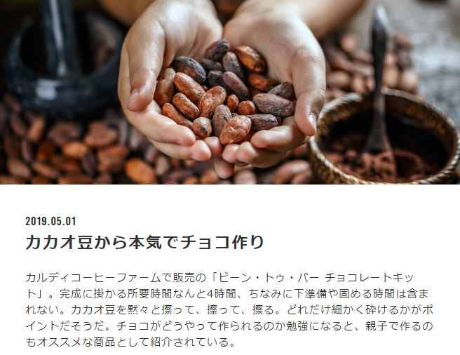 <strong>ビーン・トゥ・バー・チョコレートキット</strong>の事例